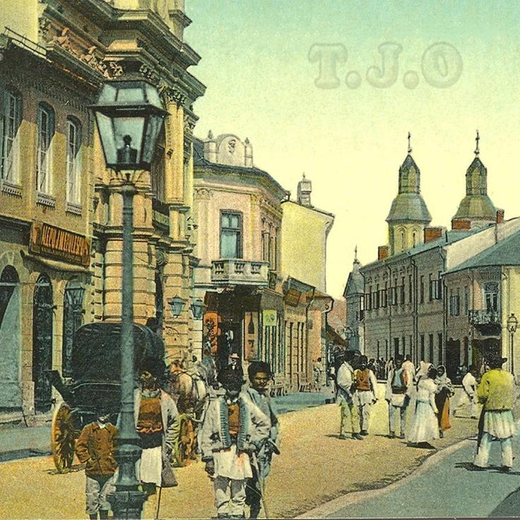 Targu Jiu , Str Victoriei la inceputul secolului trecut