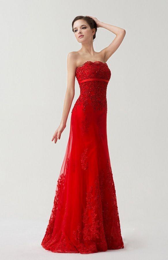 Vestiti da sposa economici rossi
