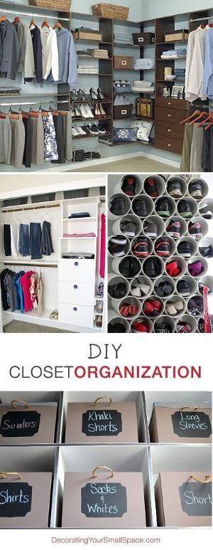 DIY Closet Organization • Ideas & Tutorials! by Katellerts