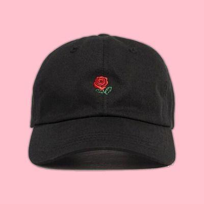 Rose hat   cute cool kawaii tumblr flowers black