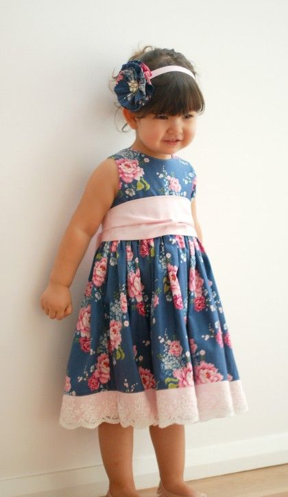The Party Dress Free Pattern: Re-release! - The Cottage Mama - LOVE the lace detail.