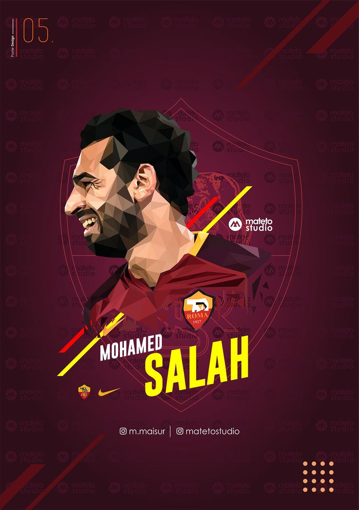 Lowpoly art for one of my favorite football player Mohamed Salah