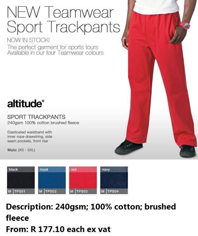 New Teamwear Sport Trackpants!