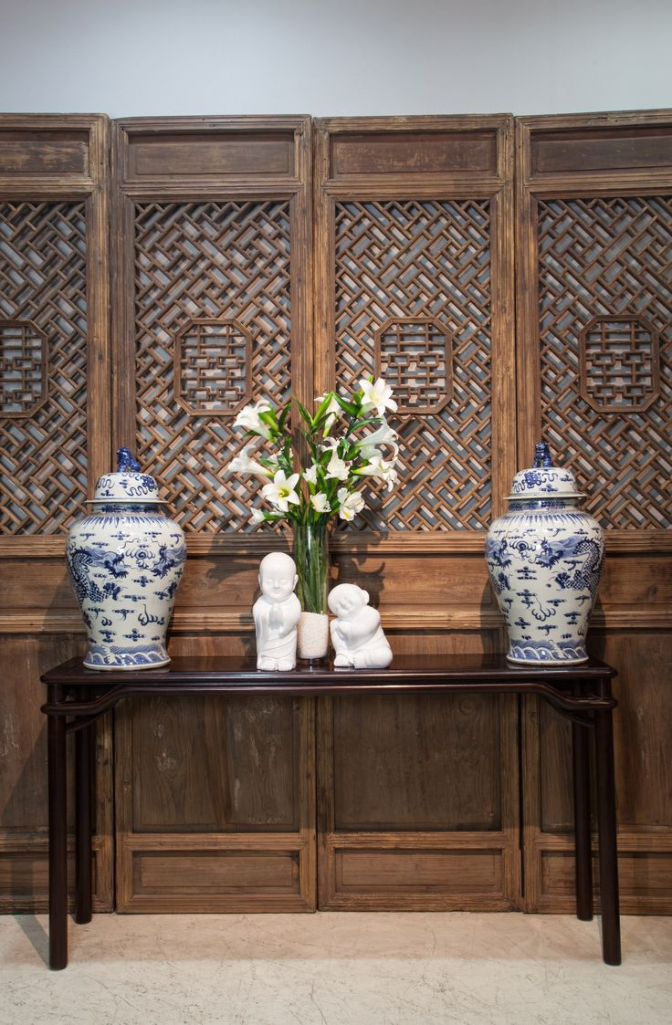 oriental furniture perth. Antique Door Panels At The Back, With A Chinese-style Hardwood Console Table In Oriental Furniture Perth W