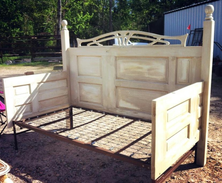 A homemade day bed made out of doors house beautiful for Classic house day bed
