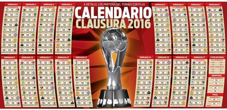 No pierdas detalle del Clausura 2016 con el calendario RÉCORD