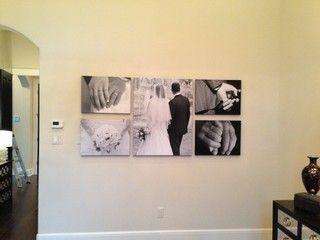 Wedding canvas wall arrangement