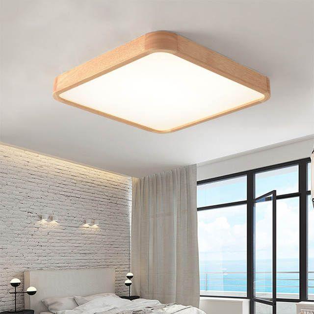 Nordic Einfache Moderne Eiche Holz Decke Lampe Ultra Dunne