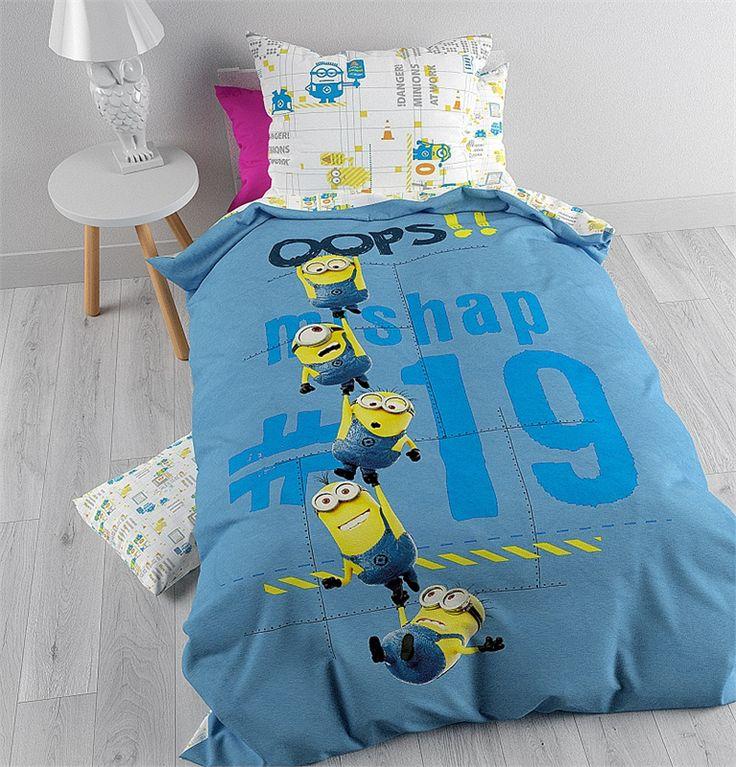 Dit Minions Oops Dekbedovertrek maakt je kind zijn of haar Minions-slaapkamer helemaal compleet.