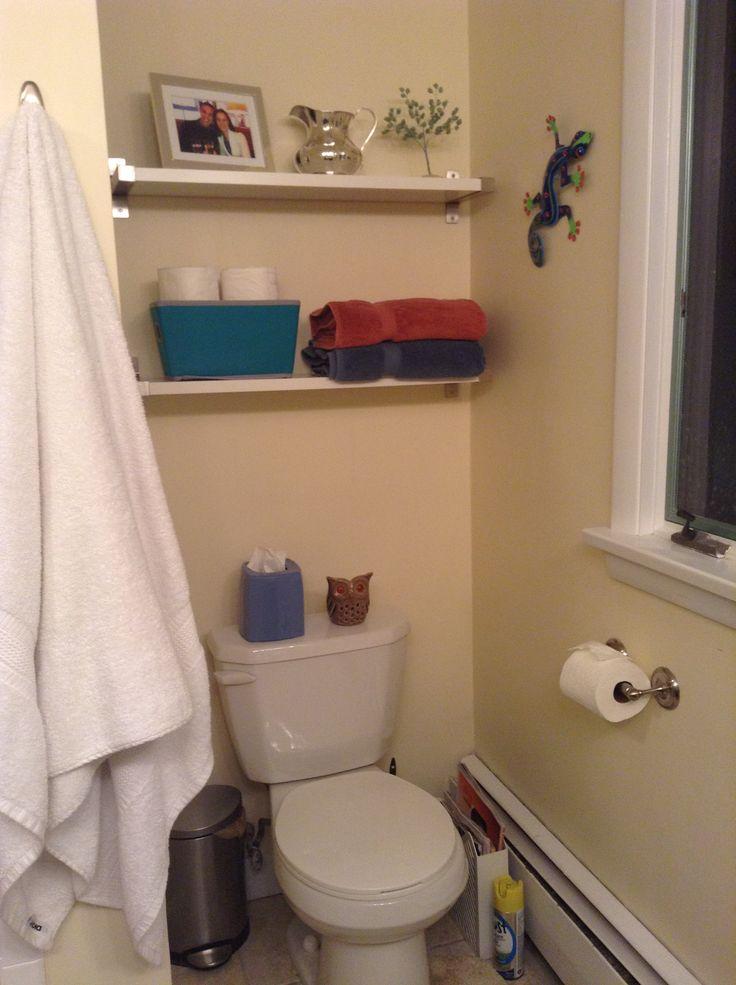 Bathroom ikea shelves over toilet for the home pinterest for Ikea toilette