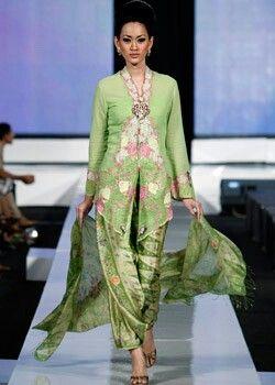 Kebaya in greens,