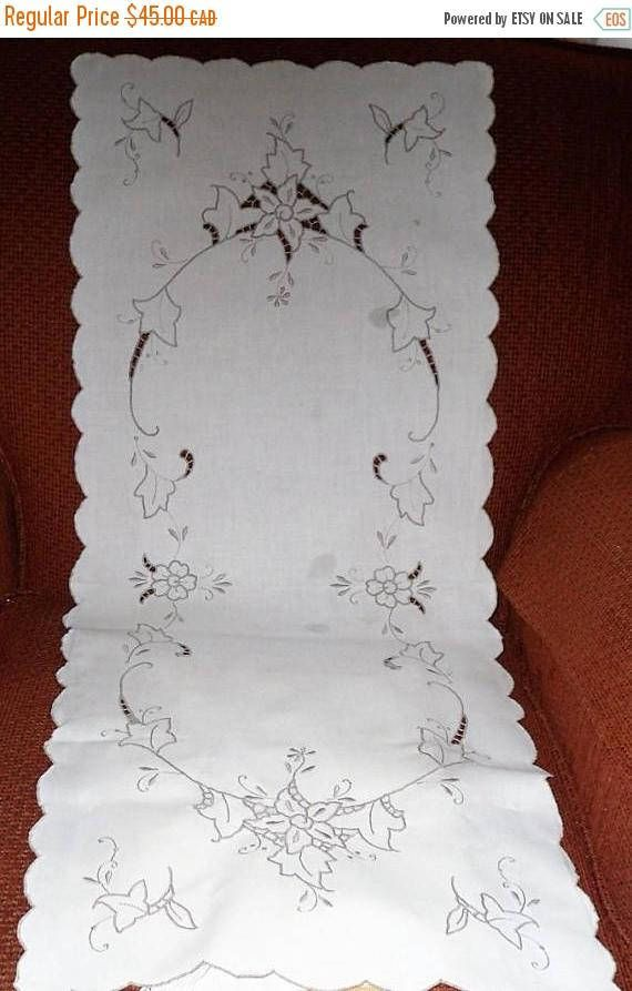 DISCOUNTED Vintage MADEIRA Table Linens/Table Runner with