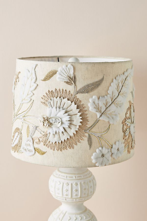 Aria Embroidered Lamp Shade In 2021 Decorative Lamp Shades Lamp Shade Painting Lamp Shades