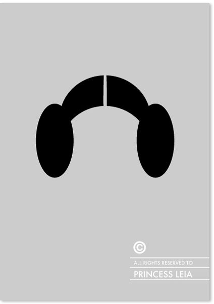 Can you identify these famous figures by their undeniably recognizable copyrighted haircuts? Great set of minimal prints by Patricia Povoa #hair #starwars #princessleia