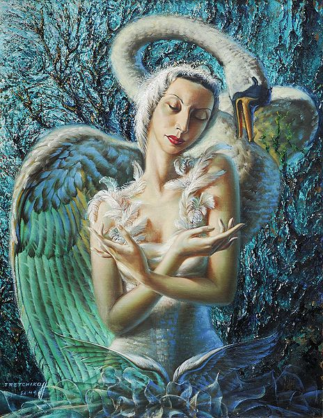 The Dying Swan by Vladimir Tretchikoff. Known as The King of Kitsch, Tretchikoff was born in Siberia and self-taught.