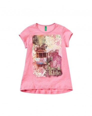 Magliette e t-shirt maniche corte bambina | Benetton