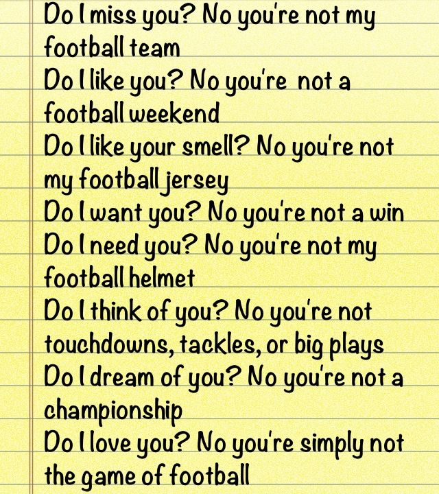 This has to be the best football quote ever hahaha.