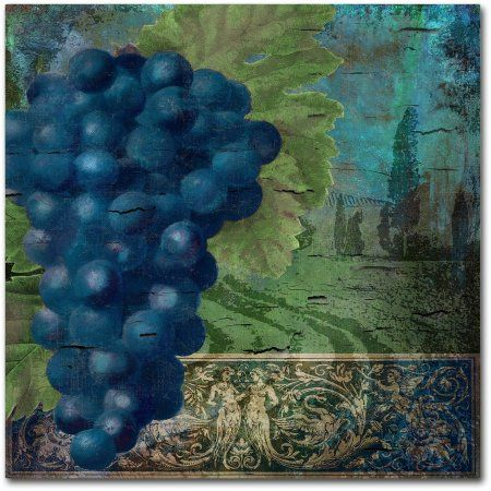 Trademark Fine Art Vino Blu Two Canvas Art by Color Bakery, Assorted