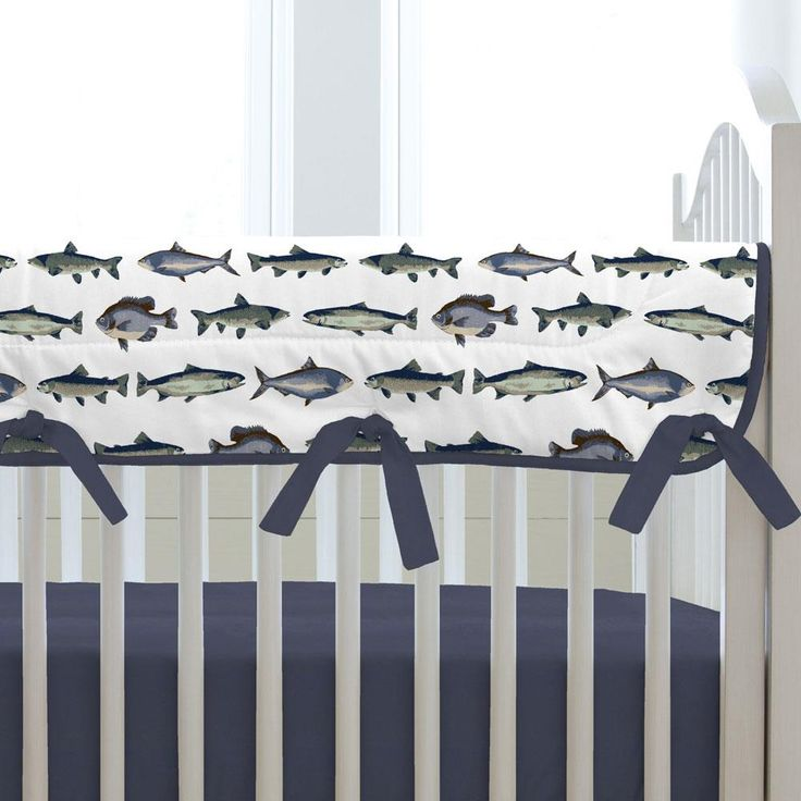 Gone Fishing Crib Rail Cover
