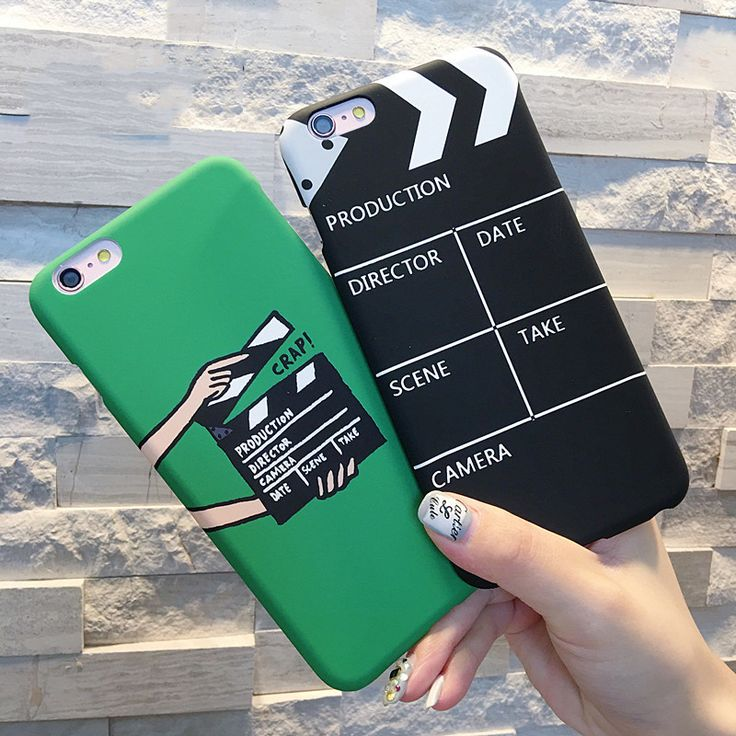 Fun theme of Film/TV Clap Board on cell phone cover. Compatible iPhone Model: iP…