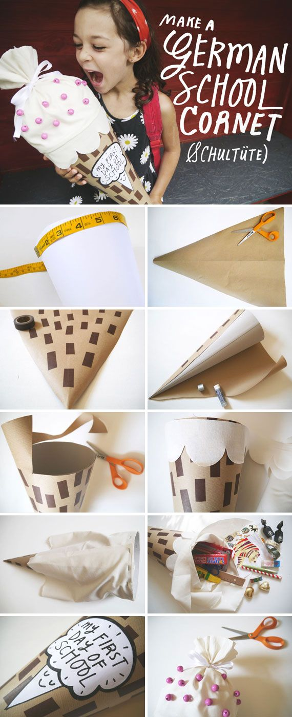 Etsy's DIY back-to-school treats cone is guaranteed to delight your little scholar. #etsy #DIY