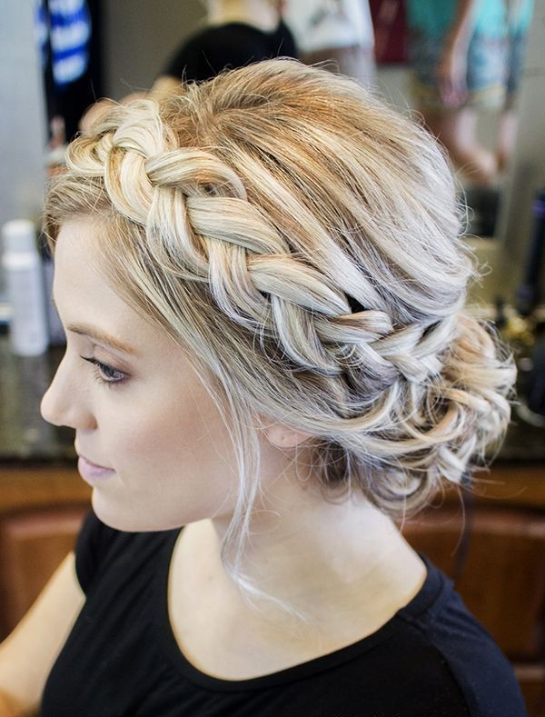 Incredible 1000 Ideas About Braided Updo On Pinterest Braids Braided Short Hairstyles For Black Women Fulllsitofus