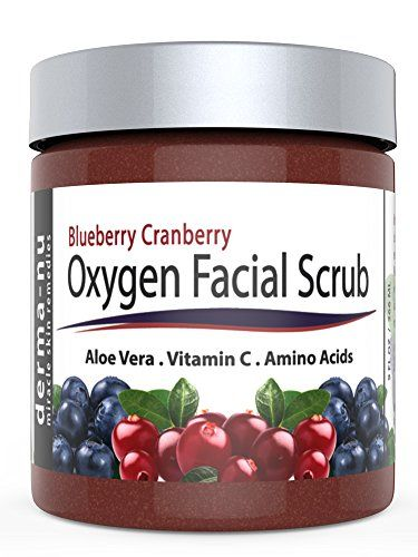 Blueberry Cranberry Oxygen Facial Scrub  Facial Exfoliator packed with Anti Aging Antioxidants for Radiant Skin All Natural  Organic Great for All Skin Types including Dry or Sensitive 9oz * Be sure to check out this awesome product.