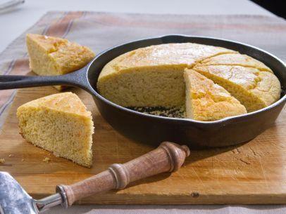 "Buttermilk Cornbread (Giving Thanks) - Trisha Yearwood, ""Trisha's Southern Kitchen"" on the Food Network."