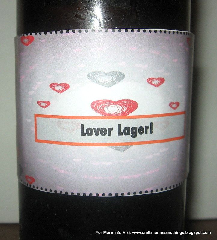 valentine labels for beer