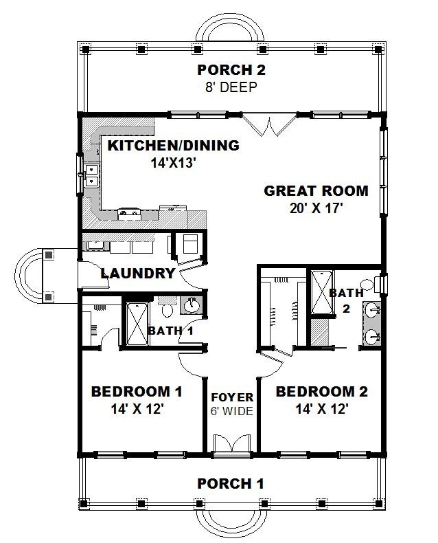 one level house plans with two master suites arts 1 porch