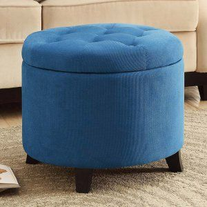 Belham Living Allover Tufted Round Ottoman - Brown - Ottomans at Hayneedle