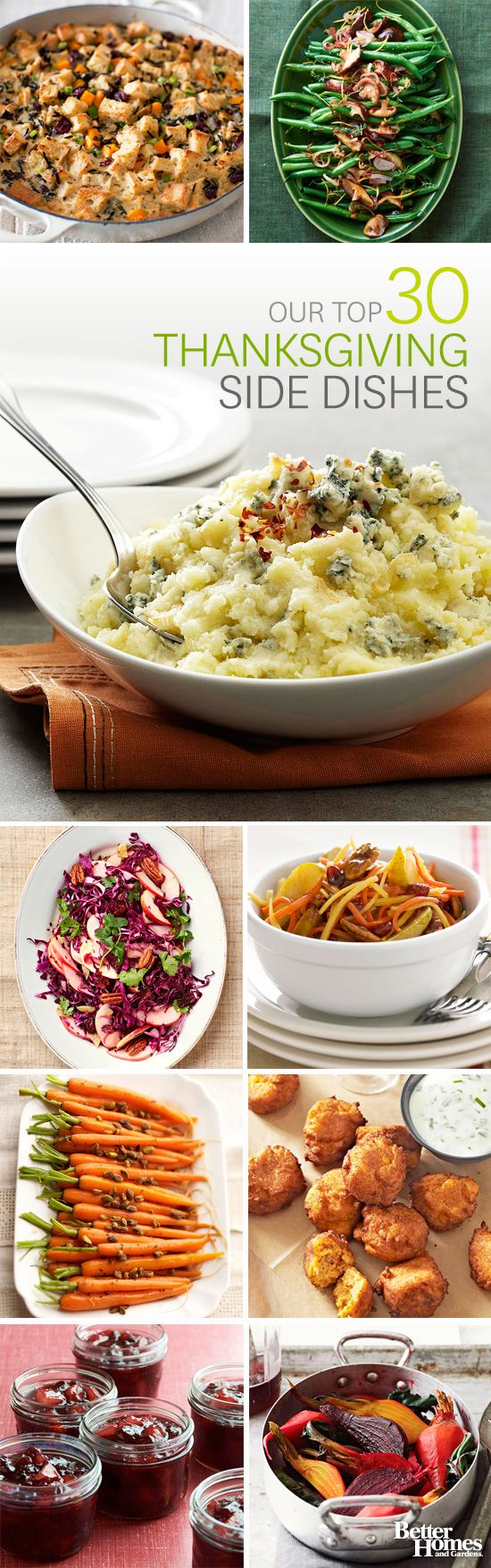 Click through for hundreds of our best holiday appetizers and side dishes: http://www.bhg.com/thanksgiving/sides-appetizers/?socsrc=bhgpin090914thanksgiving