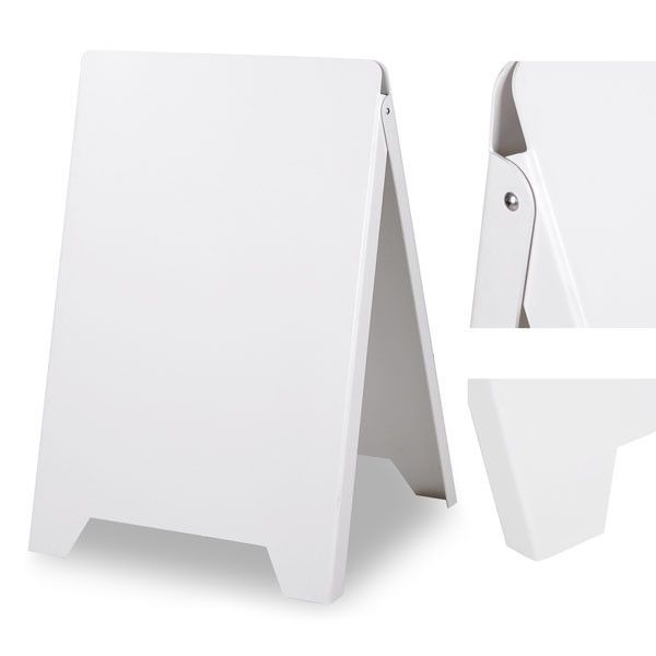 Sidewalk A Frame Sandwich Board Sign White – The Display Outlet