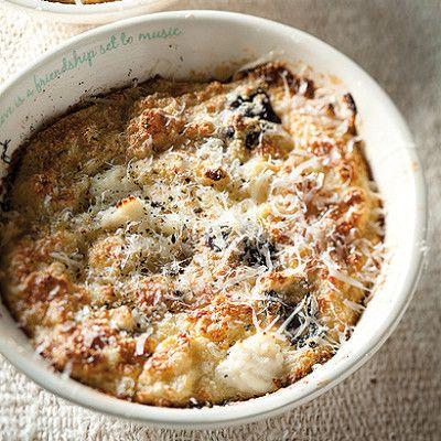Taste Mag   Fluffy ricotta and olive-baked eggs @ http://taste.co.za/recipes/fluffy-ricotta-and-olive-baked-eggs/