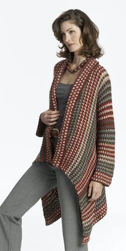 Asymmetry Jacket @http://m.favecrafts.com/Crochet-Sweaters/Asymmetry-Jacket-Crochet-Pattern-from-Caron-Yarn   (free pattern)