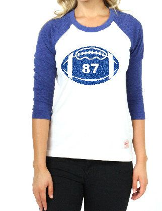 Football Shirt. Women's Football Shirt. Football Mom Shirt. Football Raglan Football T-Shirt. Glitter Football Shirt by FleurdeBling on Etsy https://www.etsy.com/listing/243762432/football-shirt-womens-football-shirt