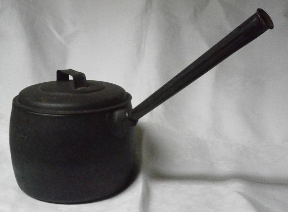 Victorian Cast Iron Saucepan by TwoJaysCorner on Etsy