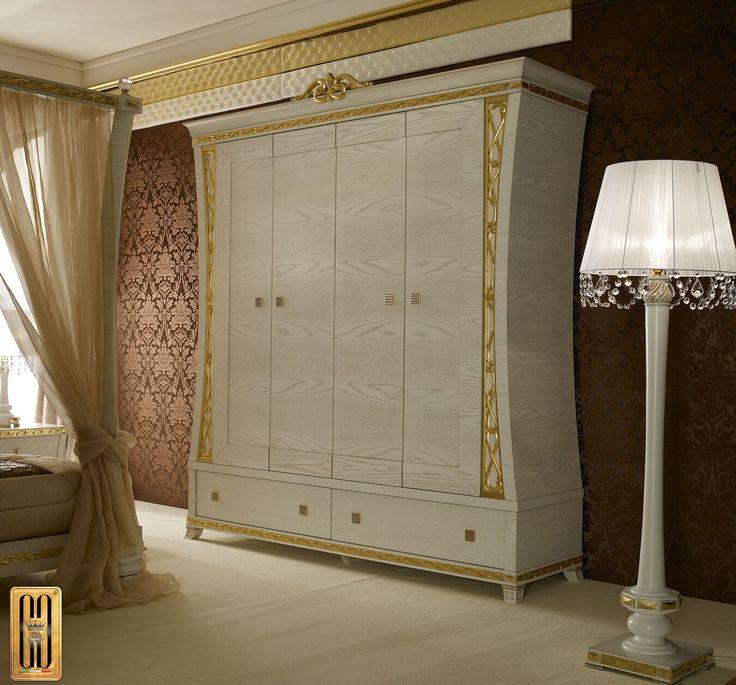 Armadio collezione Gold Gotha Luxury #GothaLuxury #luxury #bedroom #classic #gold
