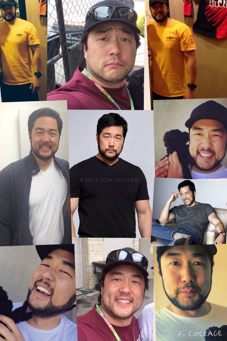 My New collage-Tim Kang with his beautiful beard,