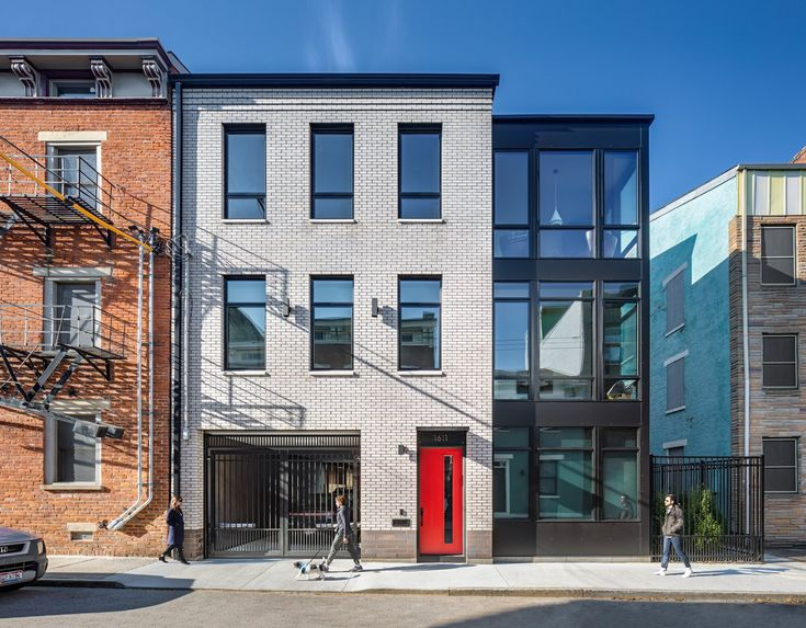Pleasant St Urban Abode By Platte Architecture Design Brick Siding Architecture Architecture Design