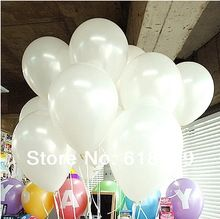 100 stk/partij 10 Inch 1.2g Wit Ballon Helium Inflable Sneeuwwitje Party…