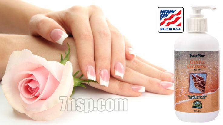 Натуральное жидкое мыло - мягко очищающее средство для рук.
