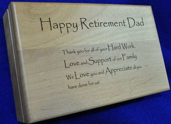Retirement Gift Retirement Gift For Dad Engraved Wood