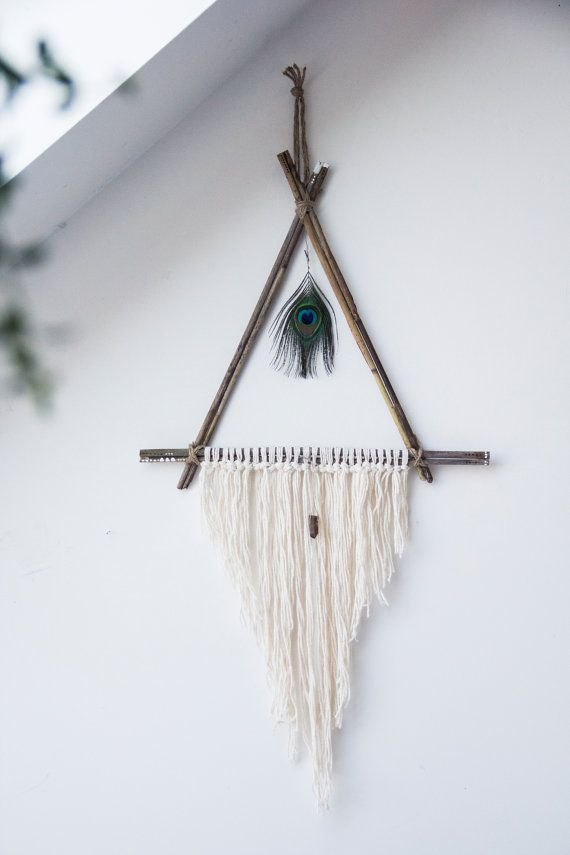 Triangle Peacock Dreamcatcher // Hummusbird // Etsy