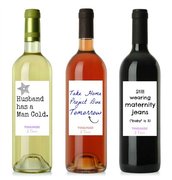 What if wine labels said what you were really thinking? Now they do! Check out these 12 wine labels for moms and find out how you can print your own! P.S. These make the perfect gift for the moms in your life!  Mother | Humor | DIY | Last minute Gifts