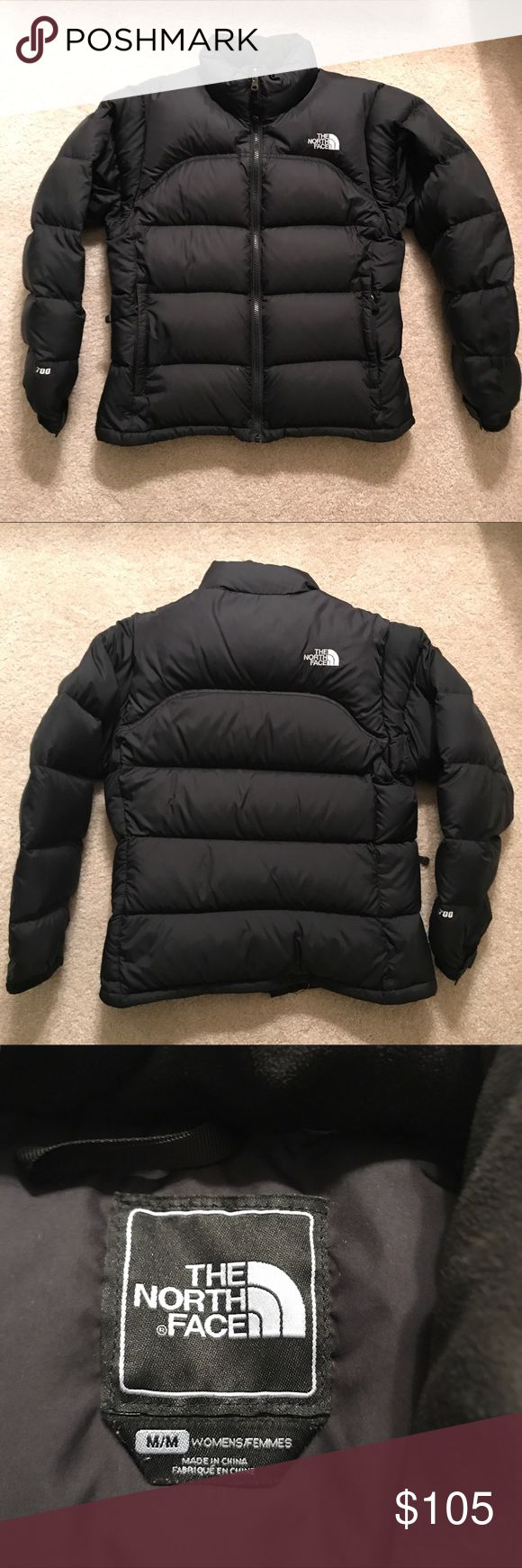 The North Face Nuptse Jacket A warm but lightweight goose down jacket for women. Gently used but in EXCELLENT condition! Two exterior pockets and internal zipper. The North Face Jackets & Coats Puffers