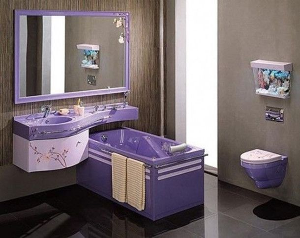 Website Picture Gallery Small Bathroom Painting Ideas Purple pictures photos images