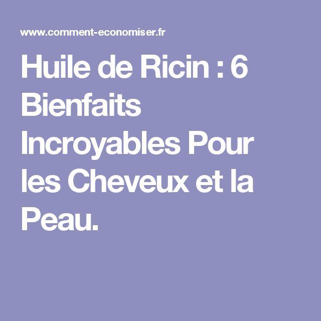 Huile de Ricin : 6 Bienfaits Incroyables Pour les Cheveux et la Peau.