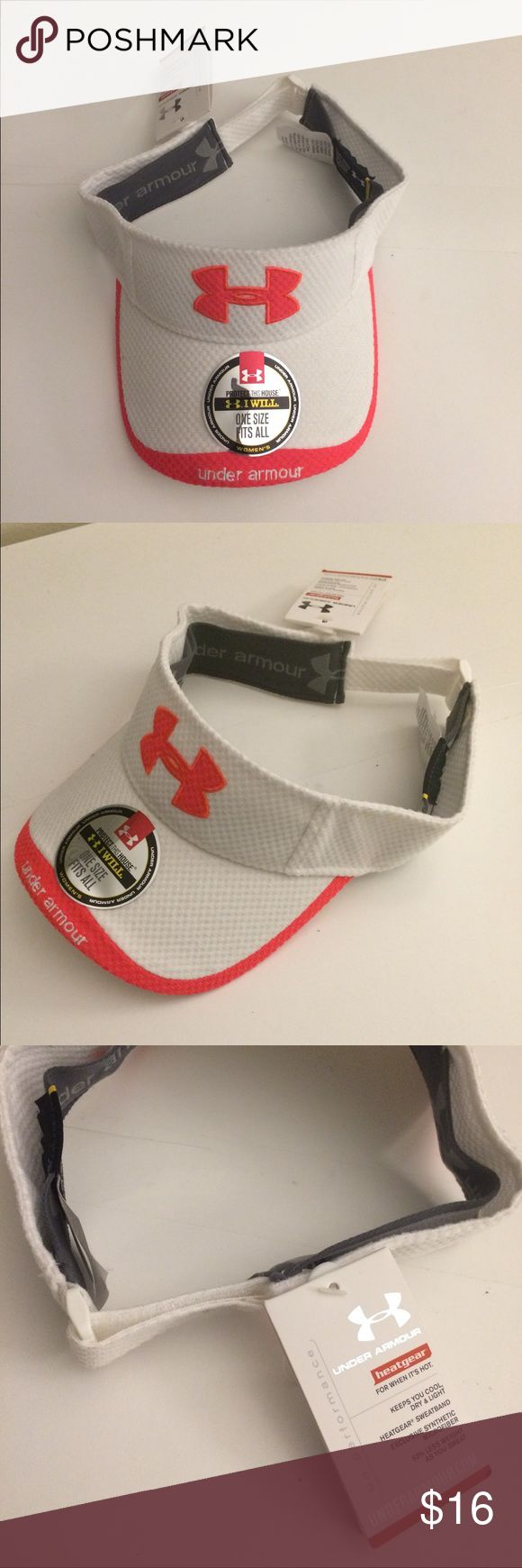 NWT Under Armour women's visor Brand new with tags Under Armour women's visor with adjustable strap. *Check out my closet for lots of other Under Armour items this can be bundled with! Under Armour Accessories Hats