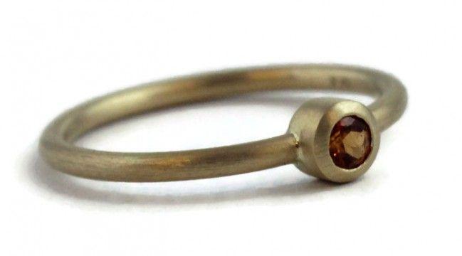 Elisa Hessonite Garnet Ring